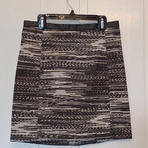 h&m mini pencil skirt black and white